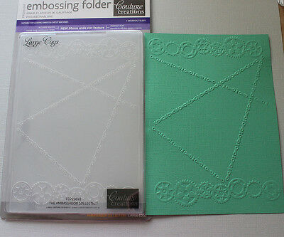 """Embossing Folder Couture Creations 5"""" x 7"""" - LARGE COGS"""