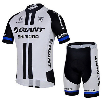 Men Giant Bicycle Cycle Clothes Sleeve Shirt Jersey Shorts Pants Cycling Suit