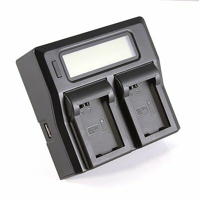 LCD Dual Channel Battery Charger Fr Sony NP-FW50 A5100 A6000 A7R A7 II NEX-7 6 5