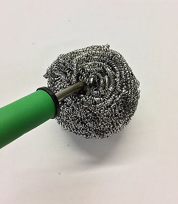 Soldering Welding Solder Iron Tip Cleaner Cleaning Stainless Steel Wire Metal J1