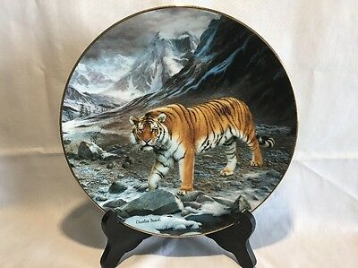 Siberian Tiger From Magnificent Cats Collection Fine China Plate W.S. George