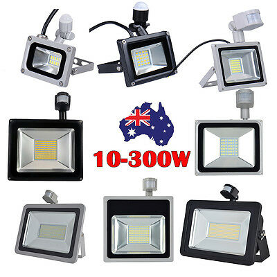 10W 20W 30W 50W 100W-300W PIR Motion Sensor LED Flood Light Outdoor Spotlight