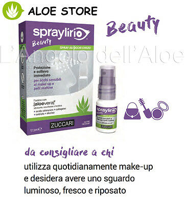 ZUCCARI SPRAY LIRIO Beauty 12,5ml  COLLIRIO OCULARE PER CHI USA MOLTO IL MAKE-UP