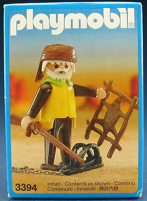 PLAYMOBIL 3394 - Trapper mit Falle - with trap - 1987 - NEU & OVP - New MISB