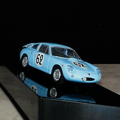 Phantastic Blue Simca Abarth 1300 Classic Racing Car Model 1962 Scale 1:43 Ixo