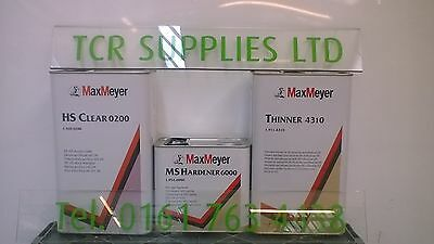 Max Meyer 0200 2K Clear Coat Car Lacquer With 6000 12.5Ltr Kit With Thinner 5Ltr