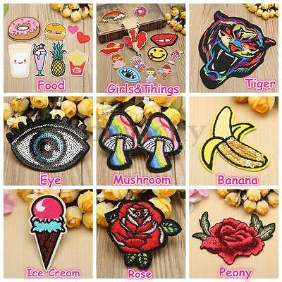Multi-style Embroidery Patch Sew Iron Badge On Clothes Bag Fabric DIY Applique