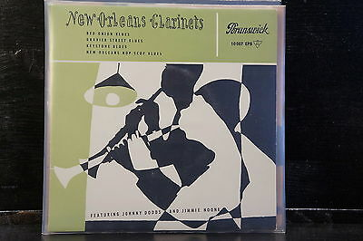 """Johnny Dodds And Jimmie Noone – New Orleans Clarinets (7""""EP)"""