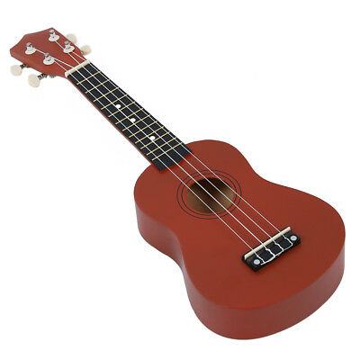 Color Brown 21 Inch Soprano Ukulele Musical Instrument New  WS