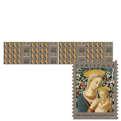 USPS New Florentine Madonna and Child Press Sheet with Die Cuts
