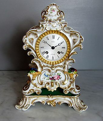 Antique French  Porcelain Clock By Payne. Paris. Circa 1810