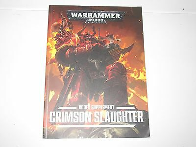 Warhammer 40K Chaos Space Marine Crimson Slaughter Softback Book VGC