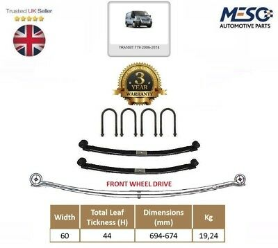 A Pair Of Rear Double ( 2 ) Leaf Spring  For Ford Transit Mk7 2006-2015 Fwd 60Mm