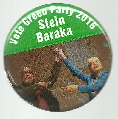 Stein, Baraka Green Party 2016 Third Party Political Campaign Pin