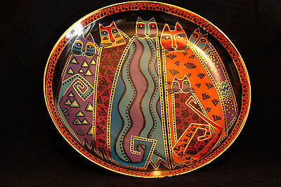 SANTA FE FELINES Collectable Franklin Mint Plate by Laurel Burch