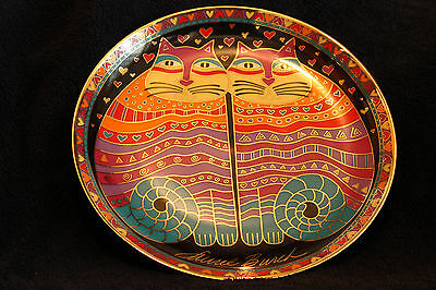 FRIENDLY FELINES Collectable  Franklin Mint Plate by Laurel Burch