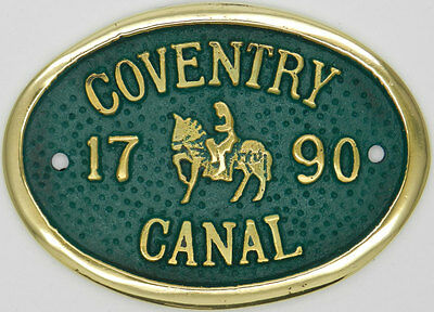 Lockmaster Coventry Canal Brass Bridge Plaque Narrowboat