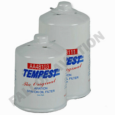 Tempest Aircraft Oil Filter - AA48103-2 - Aviation Spin-On Oil Filter
