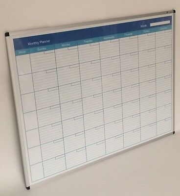 Viz-Pro 2in1 Office Monthly Planner and Magnetic Whiteboard (1200x900mm)
