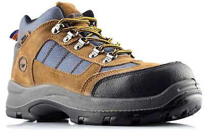 Mens Hi Tec Waterproof Safety Hiking Lace Up Ankle Work Boots Shoes Size 7-12