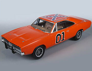 1/25 MPC Dukes of Hazzard 1969 Dodge Charger General Lee Car Model Kit - 706