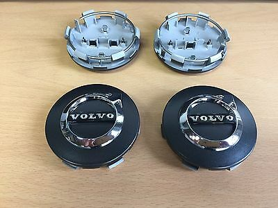 Genuine Volvo New Design Iron Mark Hub Cap Kit Alloy Wheel V70 S60 C70 V50 C30
