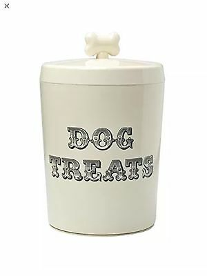House of Paws Country Kitchen Dog Treat Jar Tin In Cream