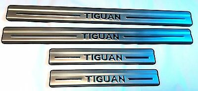 Vw Tiguan 07-15 Set Door Sill Cover Covering Trim Molding Metal Silver