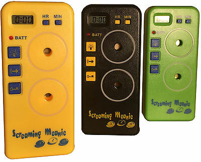 Authentic Screaming Meanie TZ-120. Extra Loud Alarm Clocks. Assorted Colors.