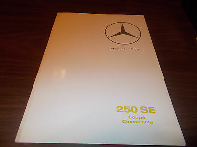 1966 Mercedes 250 SE Coupe and Convertible 20-page Sales Catalog