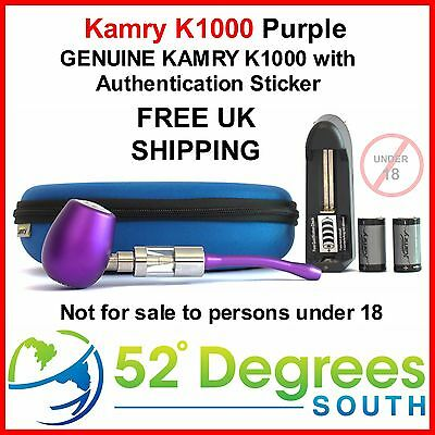 Genuine Kamry K1000 E Pipe Purple with Authentication Sticker - FREE UK SHIPPING