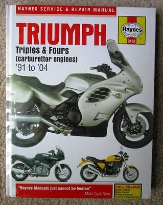 Triumph Triples Fours 91 - 2004  748 885cc Haynes Manual New in Cellophane 2162
