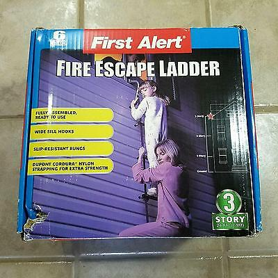 First Alert Three 3-Story Portable Fire Escape Ladder EL53W-2 College/Home 24ft
