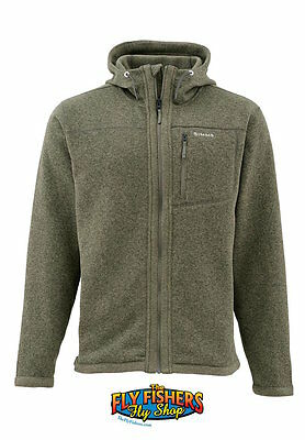 Simms Rivershed Hoody Full Zip - Loden - L - NEW - DISCOUNTED