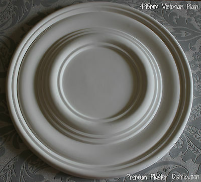 """Plaster Ceiling Rose Plain Traditional Victorian Design 495 mm / 20"""" Hand Made"""