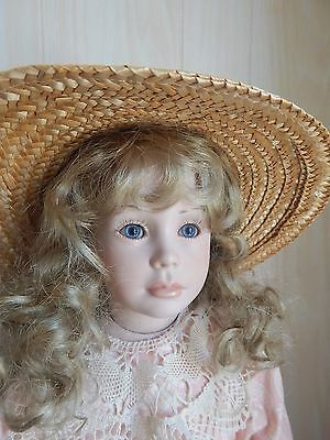 "SHELLY 23"" Porcelain/Bisque Doll By Artist ""Val '96"", Mold by Jan Garnett"