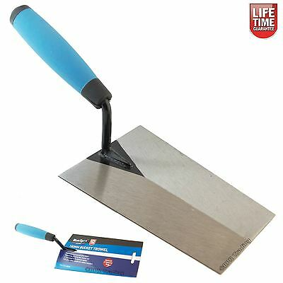 "Bucket Trowel Hardened Tempered Steel Blade Bricklaying Cement Brick 180mm (7"")"