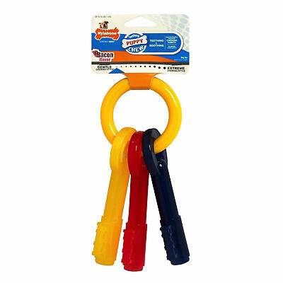 Nylabone Just For Puppies Teething Keys Ring Bone Puppy Dog Chew Pet Toy XSmall