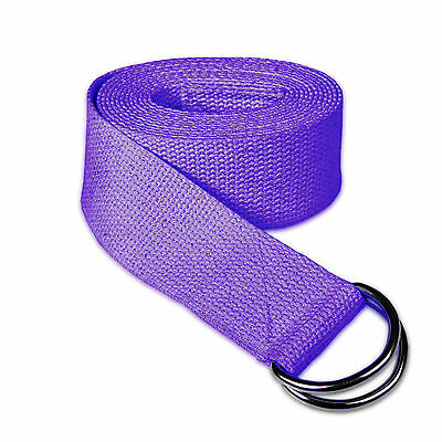 Cotton Yoga Stretch Strap NEW Plane D-Ring Leg BELTFitness Exercise