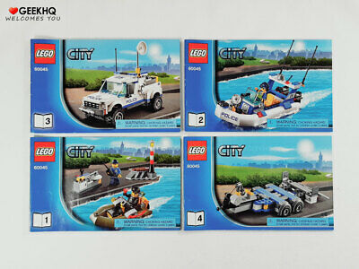 LEGO City #60045 Instruction Manuals ONLY (Book 1 to 4)