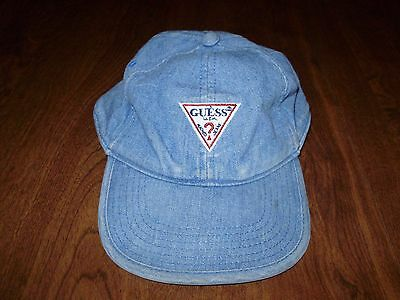 RARE VINTAGE GUESS JEANS KIDS TODDLER JEAN HAT classic logo