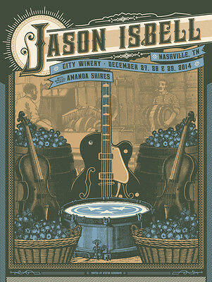 Jason Isbell 2014 City Winery Nashville TN Poster Numbered Artist Edition #50