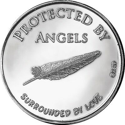 AngelStar Reflection Keepsake Angel Feather Blessing Coin