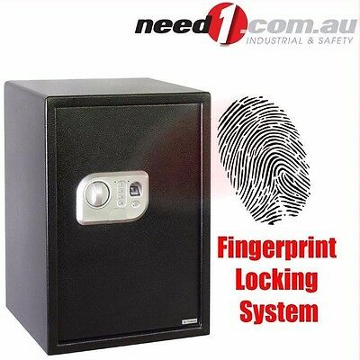 JMV Fingerprint Safe With Electronic Code Lock & Override Key 500x350x310mm