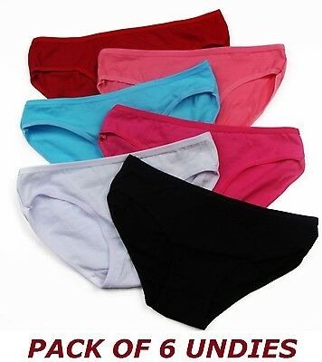 Womens Cotton 6 Pack Pair Underwear Gstring Panties Brief Undies G String Briefs