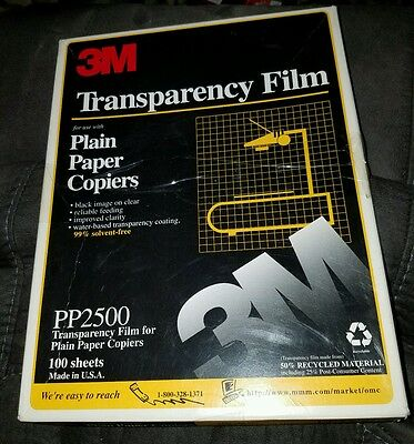 3m Transparency Film PP2500 50 Sheets Open New