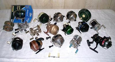 Vintage New Fishing Reel Lot  Shakespeare Zebco Sport King Parts Repair and Use