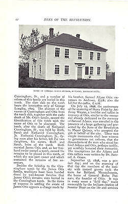 1899 Magazine Article, The Massachusetts Society of Sons of the Revolution