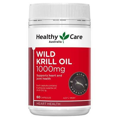 Healthy Care Wild Krill Oil 1000mg 60 Soft Capsules