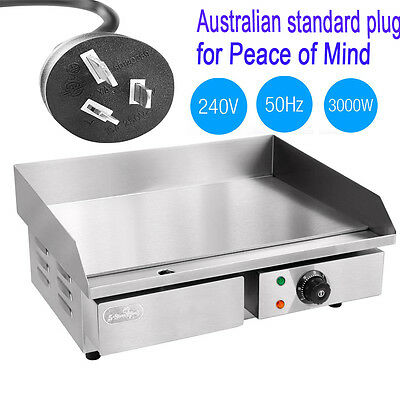 New Commercial Electric Kitchen Top Stainless Steel Grill Griddle BBQ Hot Plate